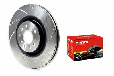 Mini Cooper S Brake Discs Pads Front and Rear Dimpled Grooved Discs Mintex Pads