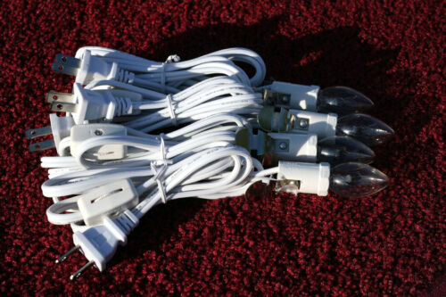 4Christmas Village Single Bulb Light Cords with On/Off Switch and Bulbs
