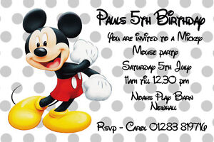 Personalised-Disney-Mickey-Mouse-Birthday-Party-Invitations-inc-Envelopes-CB1