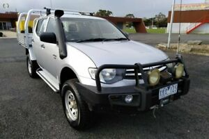 2009 Mitsubishi Triton MN MY10 GLX (4x4) Silver 5 Speed Manual 4x4 Double Cab Utility Yarram Wellington Area Preview