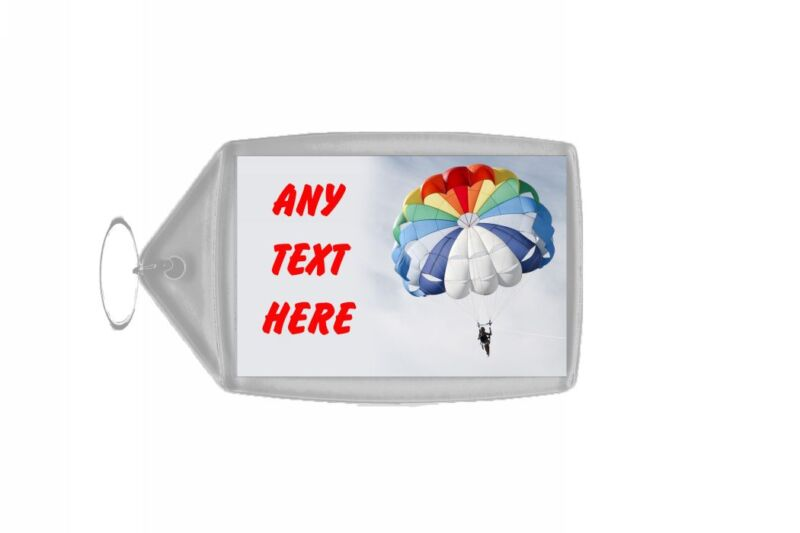 Parachute Personalised Keyring