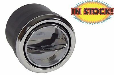Round All Chrome AC Louver Vent   2 12   AV753C