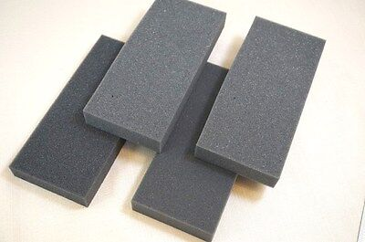 Lot 4 Recycled Small Foam Packing Sheet Pad Block Shipping Protection Gray 3x7