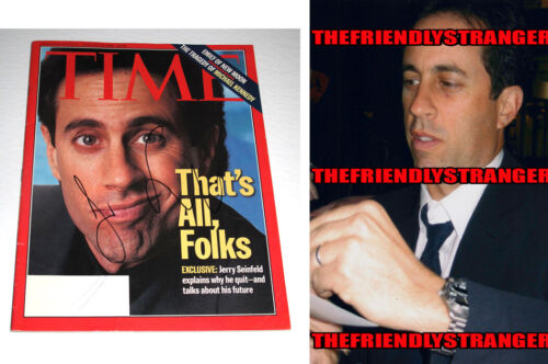 """Rare JERRY SEINFELD signed """"TIME"""" Magazine PROOF - SEINFELD That's All Folks COA"""
