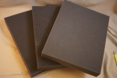 3x Recycled Foam Gray Block Packing Shipping Protection Pad Medium Density 12x9