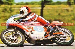 CECOTTO-Alberto-Johnny-YAMAHA-TZ-350-AGV-Carte-Postale-Moto-Motorcycle-Postcard