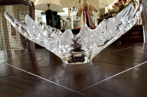 Lalique Champs Elysees Large Centerpiece French Crystal Bowl Great Condition