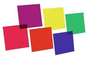 9410050A Farbfolienset 24x24cm PAR-64 sechs Farben f. PAR-64 PAR 64 Farbfolie
