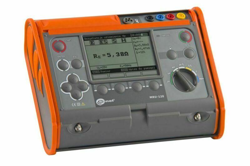Sonel MRU-120 Earth Ground Resistance Meter 50V 60 Hz CAT III 600V Tester