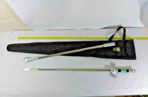 Vtg Knights of Columbus Fraternal Masonic Order Sword Scabbard, Carry Case Sash
