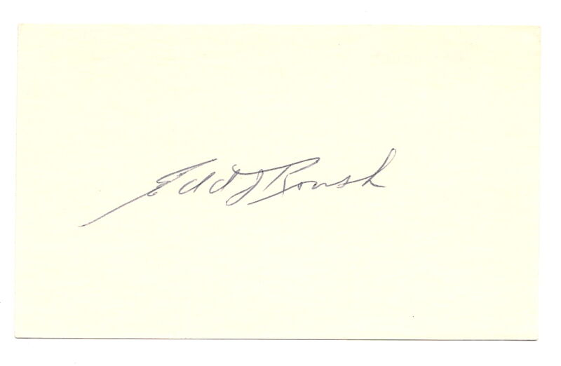Edd Roush Autograph 3x5 White Sox 1913 D-88 Hall of Fame EX!!