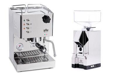 Quick Mill 4100 Pippa Espresso Machine Coffee Eureka Mignon Silenzio Grinder