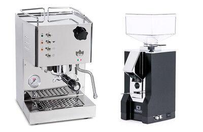 Quickmill 4100 Pippa Espresso Machine Coffee Eureka Mignon Silenzio Grinder Bk