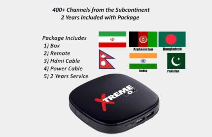 2 Y Indian Pakistan & Afghan or Arabic Italian Android TV box