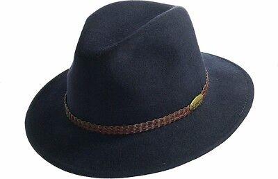 Herren Hut Cowboyhut Outdoorhut Wollfilzhut Hüte Marineblau (Blaue Cowboy-hut)