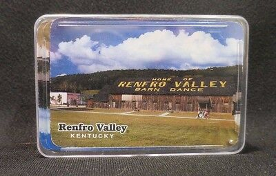 Vintage Retro Renfro Valley Barn Dance Kentucky Playing Cards Plastic Case - Barn Dance Decor