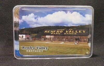 Vintage Retro Renfro Valley Barn Dance Kentucky Playing Cards Plastic Case Decor - Barn Dance Decor
