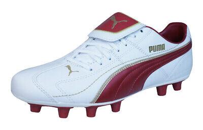 Puma Liga XL i FG Mens Leather Football Boots / Cleats - White