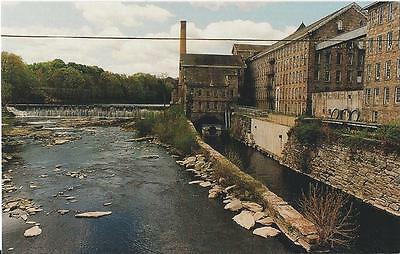 Postcard Connecticut Willimantic Linen American Thread Windham Heritage Park MNT