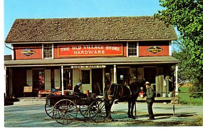 Bird In Hand, PA,  Amish Country, Amish Man at Old Village Store- Postcard