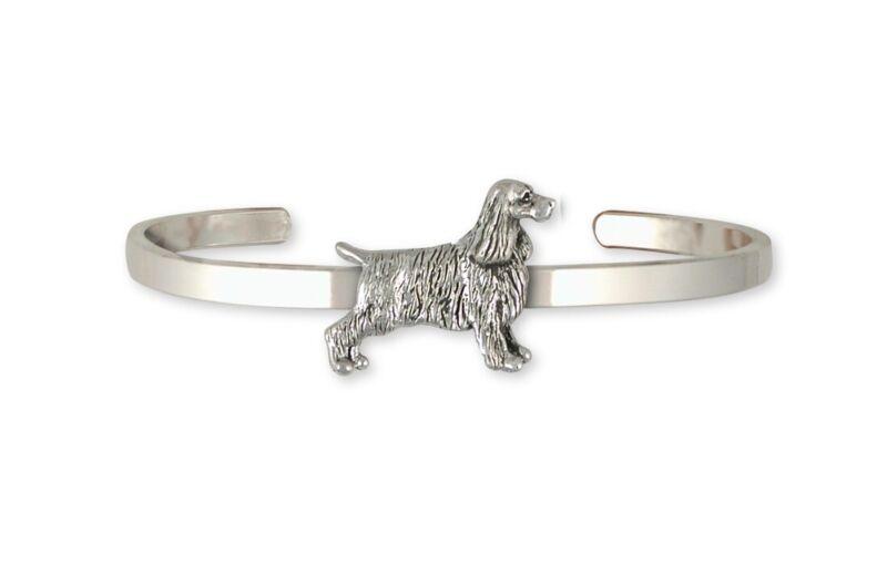 Springer Spaniel Bracelet Jewelry Sterling Silver Handmade Dog Bracelet SS7-CB