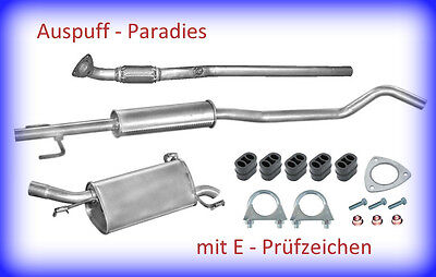 Abgasanlage Auspuff Schalldämpfer Opel Corsa C 1.2 16V &1.4 16V (F08, F68) + Kit