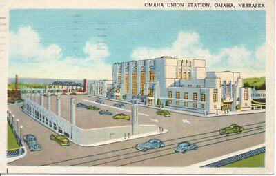 Omaha NE Union Station Postcard 1943