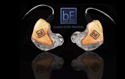 Custom In Ear Monitors 3 Driver System by Best Ears IEM (Worlds Best, Lowest