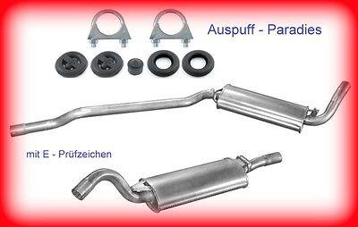 Abgasanlage Auspuff Schalldämpfer Audi Coupé B3 1.8 & 2.0  (89, 8B) ab Bj.89+Kit online kaufen