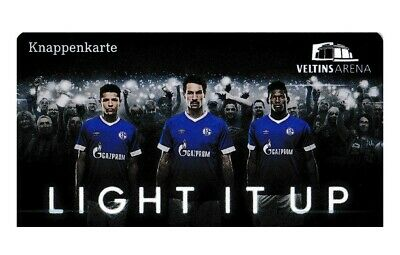 "Knappenkarte Schalke 04 ""Light it up Blau"" ()"