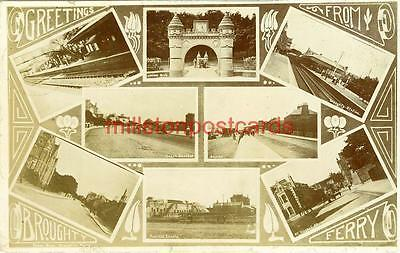 REAL PHOTOGRAPHIC MULTIVIEW POSTCARD OF BROUGHTY FERRY, ANGUS, SCOTLAND