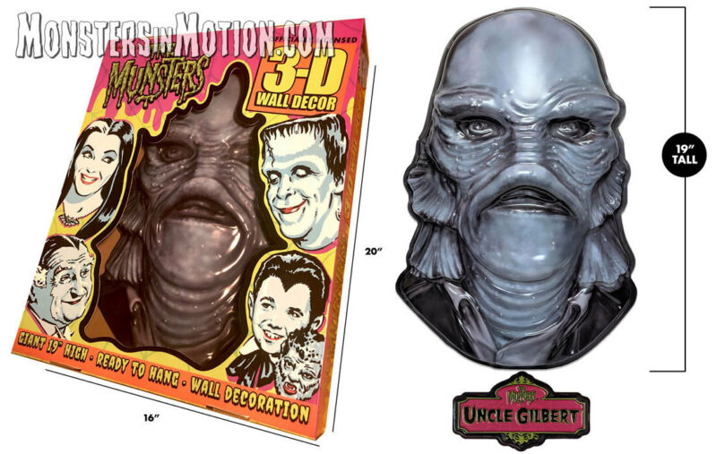 "Munsters Uncle Gilbert 3D 20"" Wall Decor w/Plaque 16MRA01"