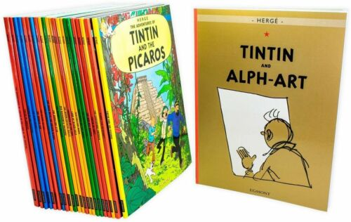 The Adventures of Tintin by Herge Full Entire Collection 23 Book Bundle Gift Set
