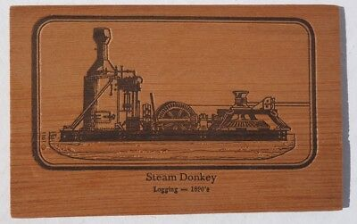 Steam Donkey Postcard made of Redwood   for sale  Shipping to Canada