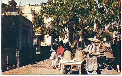 Olvera Street Scene in Los Angeles, California Greetings Postcard 1950s
