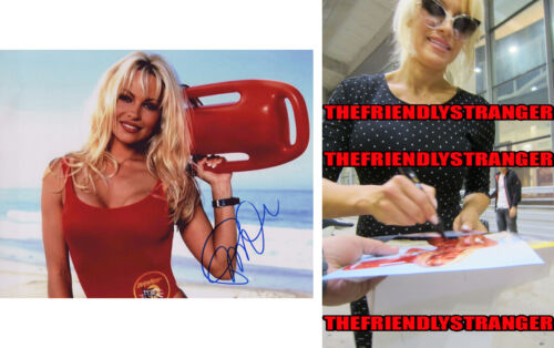 "PAMELA ANDERSON signed Autographed ""BAYWATCH"" 8X10 PHOTO F - PROOF - CJ Sexy COA"