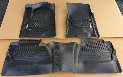 SALE HUSKY WEATHERBEATER FRONT & 2nd Row Floor Liners 14-18 GMC Sierra CREW CAB Cab 2nd Seat