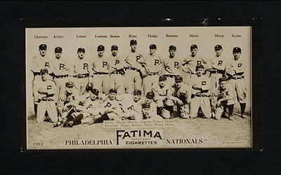 Used, 1913 T200 FATIMA PHILADELPHIA PHILLIES NATIONALS TEAM CARD EPPA RIXEY GOOD FOCUS for sale  Shipping to Canada