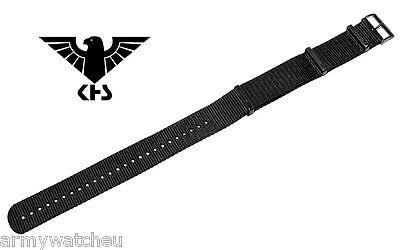 KHS Tactical Watches Ersatzbänder KHS Nato Armband Schwarz PVD 20mm KHS.EBNB.20