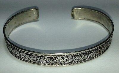Intricate Filigree Design Metal Cuff Bracelet From the Himalaya Free Ship in USA - Filigree Design Cuff
