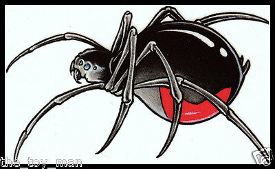 BIG BLACK WIDOW SPIDER INSECT~CREEPY SCARY HALLOWEEN COSTUME~TEMPORARY TATTOO](Scary Black Widow Spider)