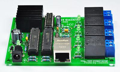 4 Relay Remote Control Via Internetintranet Lan 12vdc Relay 110-240vac Nc400