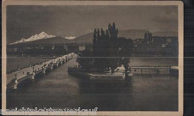 199.547 Genf, Genéve et le Mont-Blanc, Foto-AK