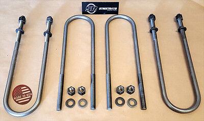 """[SR] 99-17 Ford F250 F350 SD SuperDuty 2WD 4WD U Bolts Set (Up to 3"""" Rear Lift)"""