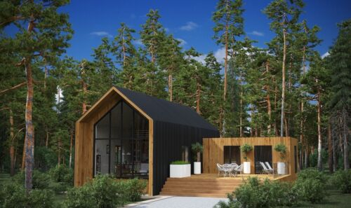 1,420 SQ.FT ECO SOLID TIMBER AIRTIGHT PANEL HOUSE KIT MASS WOOD CLT HOME PREFAB