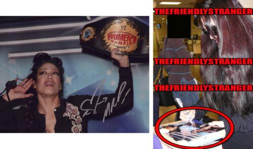 """MELINA PEREZ signed Autographed """"WWE WOMEN'S CHAMP"""" 8X10 PHOTO - EXACT PROOF COA"""