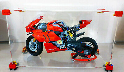 OLEGABOX 3mm Display Case for Lego 42107 Ducati Panigale V4 R