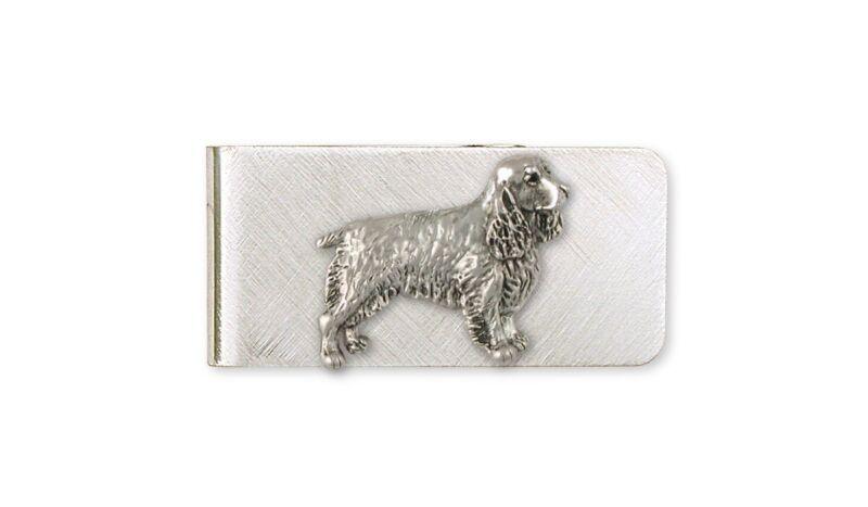Springer Spaniel Money Clip Jewelry Sterling Silver Handmade Dog Money Clip SS3-