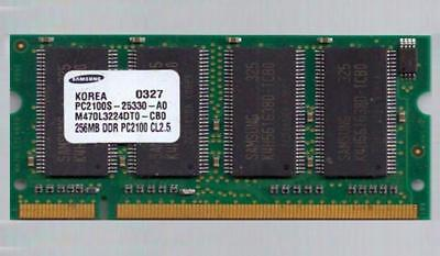 SAMSUNG 512MB (2x256MB) RAM MEMORY DDR PC-2100S 266MHz SoDIMM Laptop Computer GC