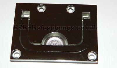 1 St.Einlassgriff poliert A4 76x56mm Edelstahl  Lukenheber Griff Bodenheber
